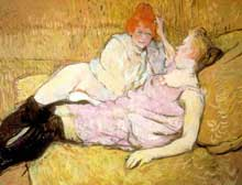 Henri de Toulouse-Lautrec : le sofa. 1895. New York, Metropolitan Museum of Art