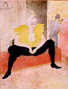 Henri de Toulouse-Lautrec: la clownesse assise. 1896. Albi, Musée Toulouse-Lautrec