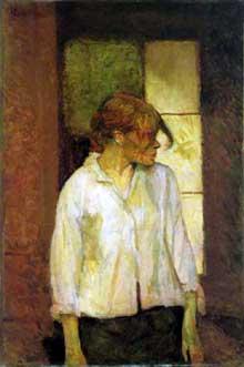 Henri de Toulouse-Lautrec: Rosa la rouge. 1886-1887. Huile sur toile, 72 x 49 cm. Barnes Foundation, Merion, Pennsylvania
