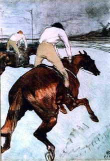 Henri de Toulouse-Lautrec: le Jockey. 1899. Musée Toulouse-Lautrec, Albi