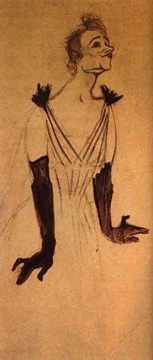 Henri de Toulouse-Lautrec: Yvette Guilbert salue le public. 1894. Albi, Musée Toulouse-Lautrec