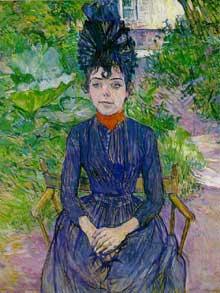 Henri de Toulouse-Lautrec: Justine Dieul. 1889. Carton. 75 x 58 cm. Paris, Musée d'Orsay