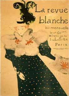 Henri de Toulouse Lautrec: affiche pour «La Revue Blanche», 1895. Paris, musée des Arts décoratifs