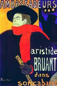Henri de Toulouse Lautrec: Affiche pour les ambassadeurs: Aristide Bruant