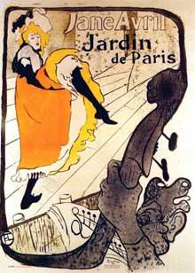 Henri de Toulouse Lautrec: Jane Avril: jardin de Paris. 189