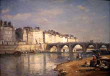 Stanislas Lépine : Pont de la Tournelle, Paris. 1862. Washington National Gallery of Art