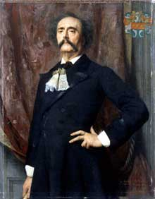Emile Lévy: portrait de Jules Barbey d'Aurevilly. 1882