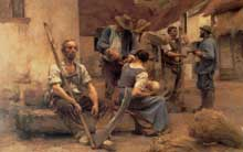 Léon Lhermitte: la paye des moissonneurs. 1882. Huile sur toile. Paris, musée d'Orsay
