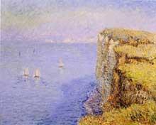 Gustave Loiseau: Falaises en Normandie. 1901. Huile sur toile 60 cm x 73 cm. collection privée