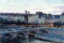 Maximilien Luce: Quai de l'Ecole. 1889. Huile sur toile, Collection particulièr