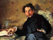 Edouard Manet: portrait de Stéphane Mallarmé. 1876. Huile sur toile. Paris, Musée d'Orsa