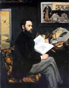 Edouard Manet: portrait d'Emile Zola. Paris, Musée du Louvre