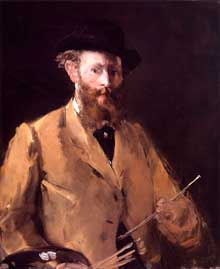 Edouard Manet : Autoportrait à la palette. 1879. Collection privée