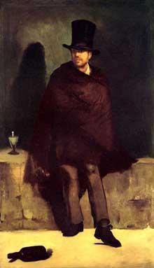 Edouard Manet: Le buveur d'absinthe. 1858. Copenhague, Ny Carlsberg Glyptotek