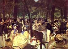 Edouard Manet: La musique aux Tuileries. 1862. Huile sur toile, 76 x 118 cm. Londres, National Gallery