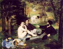 Edouard Manet: Le déjeuner sur l'herbe. 1863. Paris, Musée d'Orsay