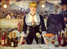Edouard Manet : Un bar aux Folies Bergères. vers 1881-1882. Londres, Courtauld Institute Galleries