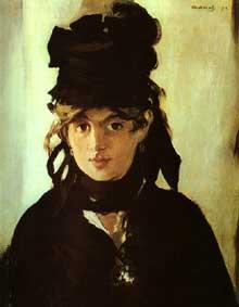 Edouard Manet: Berthe Morisot au bouquet de violettes. 1872. Paris, Musée d'Orsay, Paris