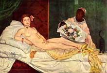 Edouard Manet: Olympia. 1863. Huile sur toile, 130,5 x 190 cm. Paris, Musée d'Orsay