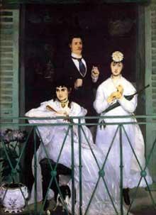 Edouard Manet: le Balcon. 1868-1869. Huile sur toile, 170 x 124 cm. Paris, Musée d'Orsay