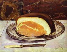Edouard Manet : Le jambon 1880. Huile sur toile, Glasgow Museums and Art Gallerie