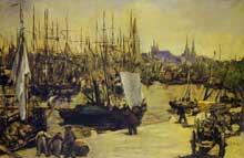 Edouard Manet: Le Port de Bordeaux. 1871. Huile sur toile, 66 cm x 100 cm. Collection privée