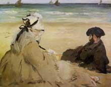 Edouard Manet: Sur la plage. 1873. Huile sur toile, 57 cm x 73 cm. Paris, musée d'Orsay