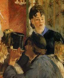 """Edouard Manet: """"La Serveuse de bocks. 1879. Huile sur toile, 77,5 cm x 65 cm. Paris, musée d'Orsay"""