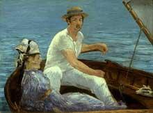 Edouard Manet: en bateau. 1874. New York, Metropolitan museum