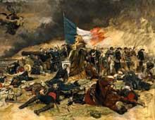 Jean Louis Ernest Meissonnier (1815 - 1891): le siège de Paris. 1870-1871. Huile sur toile, 54 x 71 cm. Paris, Musée» d'Orsay