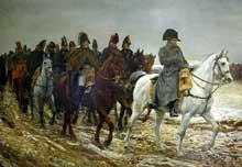 Jean Louis Ernest Meissonnier: 1814: la campagne de France. 1864. Huile sur toile, 77 cm x 52 cm Paris, musée d'Orsay