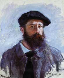 Claude Monet : Autoportrait au béret.1886. Collection particulièr