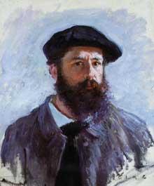 Claude Monet: Autoportrait au béret. 1886. Huile sur toile. Collection particulièr