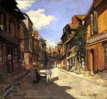 Claude Monet: la rue de la Bavolle à Honfleur.1864. Mannheim, Stadische Kunsthalle