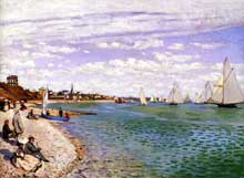 Claude Monet : Régates à Sainte-Adresse. 1867. New York, Metropolitan Museum of Art