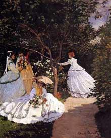 Claude Monet: Femmes au jardin. 1867. Paris, Musée d'Orsay