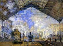 Claude Monet: Gare Saint-Lazare. 1877. Paris, Musée d'Orsay.