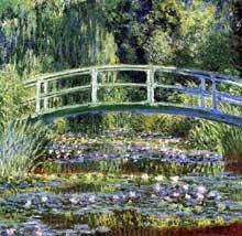 Claude Monet: Le pont japonais.sur le bassin aux nymphéas à Giverny. 1899. Princeton University Art Museum. New-Jerse