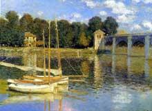 Claude Monet: le pont d'Argenteuil. 1874. Huile sur toile, 60 x 80 cm. Paris, Musée d'Orsay. Cette toile fut dégradée lors de la «Nuit blanche» du 7 octobre 2007