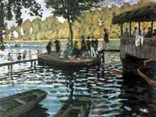 Claude Monet: A la grenouillère. 1869. New York, Metropolitan Museum
