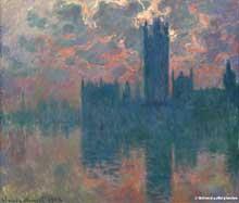 Claude Monet: Londres, le Parlement: coucher du soleil. 1902. Huile sur toile, 82 cm x 93 cm. Londres, national Gallery