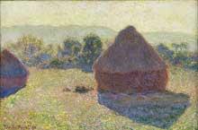 Claude Monet: meules, milieu du jour. 1890. Huile sur toile. Collection privée