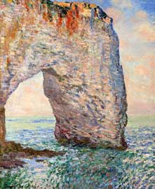 Claude Monet: la Manneporte à Etretat. 1886. Huile sur toile. New York, Metropolitan Museum of Art