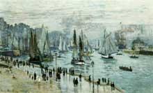 Claude Monet: bateaux quittant le port, Le Havre. 1874. Huile sur toile, 101 x 60 cm. Collection privé
