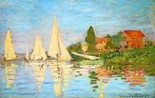 Claude Monet: régates à Argenteuil. 1875. Huile sur toile, 75 x 45 cm. Paris, Musée d'Orsay