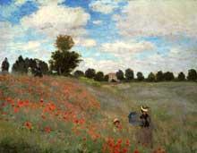 Claude Monet: les coquelicots à Argenteuil. 1873. Huile sur toile, 50 x 65 cm. Paris, Musée d Orsay