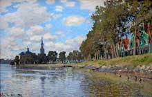 Claude Monet: Zaandam, Paysage. 1871. Huile sur toile, 73 cm x 48 cm. Paris, Musée d'Orsa