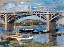 Claude Monet: le pont d'Argenteuil. 1874. Huile sur toile, 89,8 x 81,4 cm. Munich, Neue Pinakothek