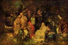 Adolphe Joseph Monticelli: «Comme il vous plaira». 1880. Huile sur toile. Washington, Philipps collection