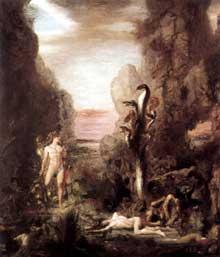 Gustave Moreau: Hercule et l'Hydre de Lerne. 1869-1876. Huile sur toile, 175 x 154 cm. Chicago, Art institute